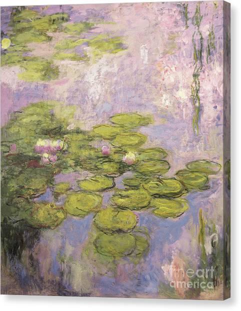Murky Canvas Print - Nympheas by Claude Monet