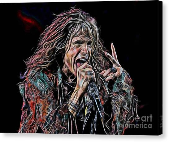 Aerosmith Canvas Print - Steven Tyler Collection by Marvin Blaine