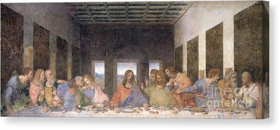 Restoration Canvas Print - The Last Supper by Leonardo Da Vinci