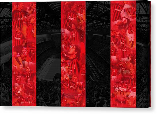 Ac Milan Canvas Print - Other by Alice Kent