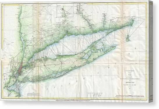 Long Island Map Canvas Prints Page 6 of 8 Fine Art America