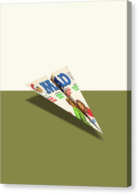 Steve Austin Canvas Print - 188 Mad Paper Airplane by YoPedro