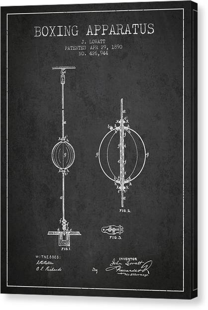 Ufc Canvas Print - 1890 Boxing Apparatus Patent Spbx17_cg by Aged Pixel