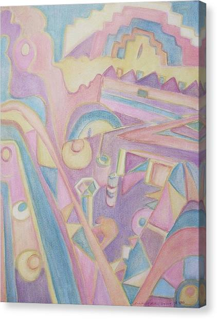 18th Century Greek Church Abstract Canvas Print by Suzanne  Marie Leclair