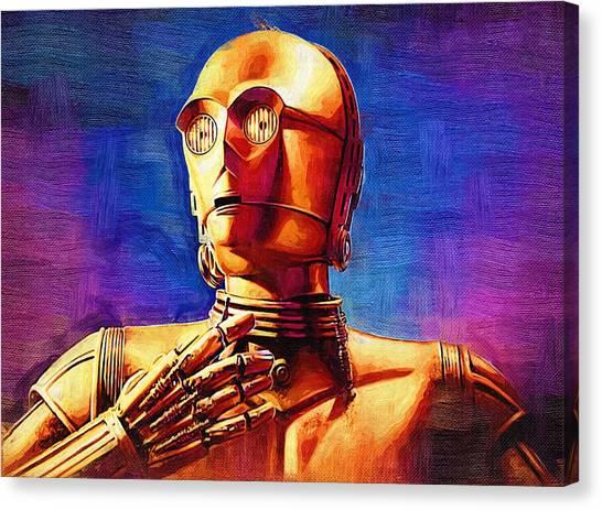 C-3po Canvas Print - Movie Star Wars Art by Larry Jones