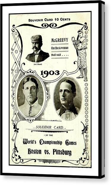 1903 World Series Poster Canvas Print
