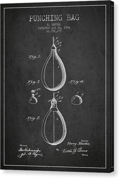 Ufc Canvas Print - 1904 Punching Bag Patent Spbx12_cg by Aged Pixel