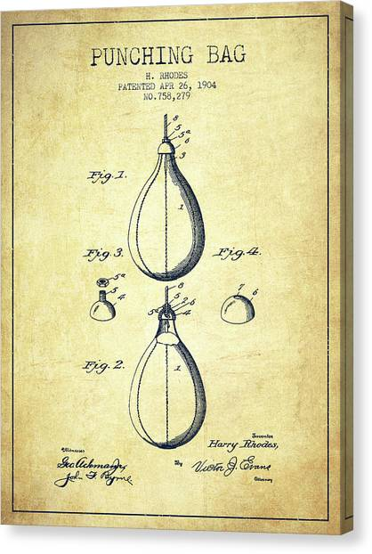 Ufc Canvas Print - 1904 Punching Bag Patent Spbx12_vn by Aged Pixel