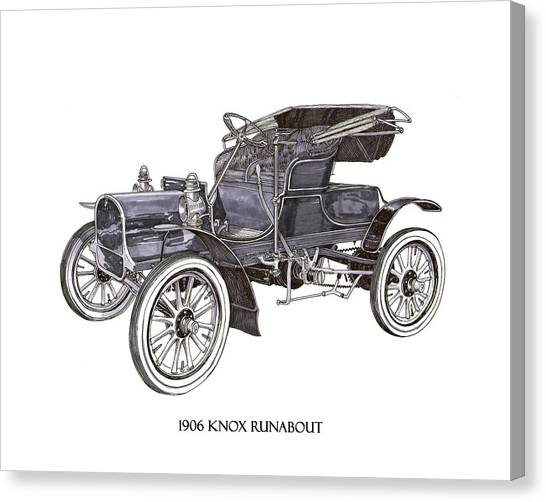 Call Of Duty Canvas Print - 1906 Knox Model F 3 Surry by Jack Pumphrey