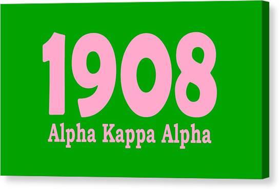 Alpha Kappa Alpha Canvas Print - 1908 Alpha Kappa Alpha  by Sincere Taylor