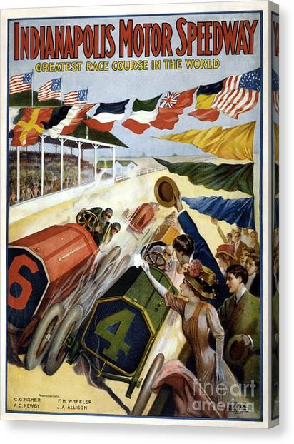 Indy 500 Canvas Print - 1909 Indy 500 Poster by Jon Neidert