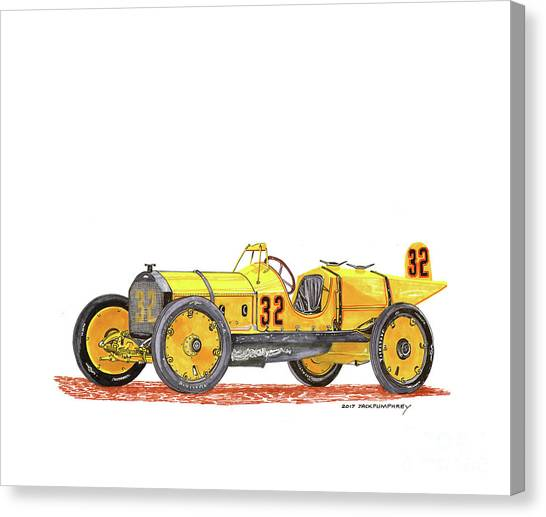 Canvas Print - 1911 Marmon Wasp Indy Winner by Jack Pumphrey