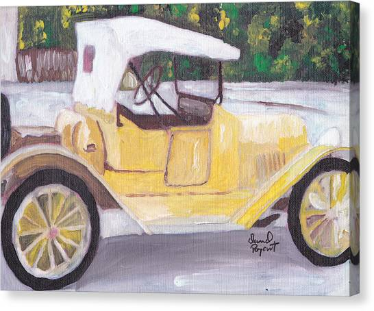 1915 Chevy Canvas Print by David Poyant Paintings