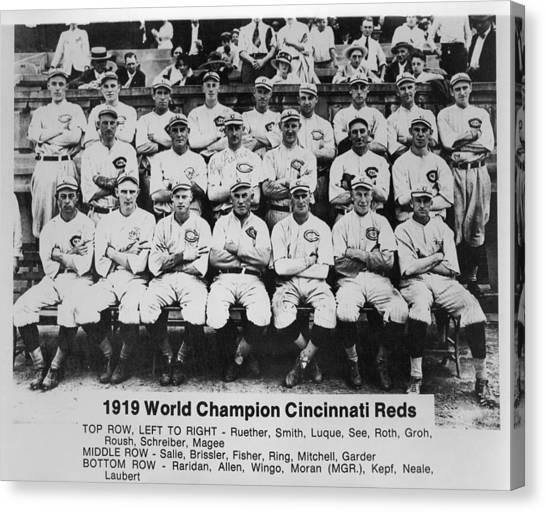 Cincinnati Reds Canvas Print - 1919 World Champion Cincinnati Reds by Mountain Dreams