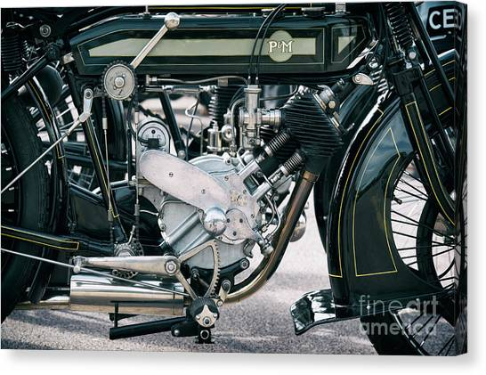 1921 P And M Motorcycle Canvas Print by Tim Gainey