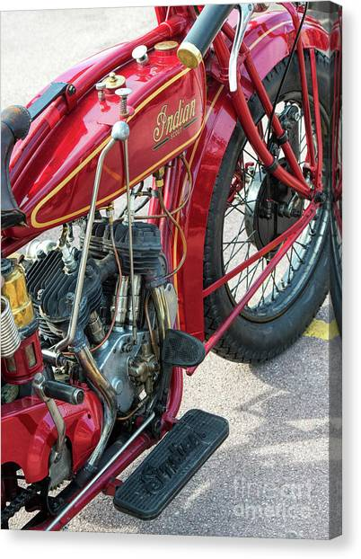Scouting Canvas Print - 1924 550cc Indian Scout by Tim Gainey