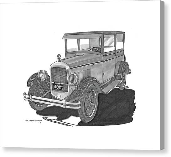 Canvas Print - 1925 Jewett 2 Door Touring Sedan by Jack Pumphrey