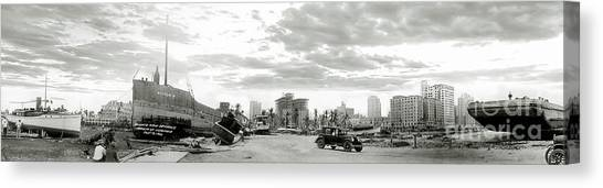 Miami Skyline Canvas Print - 1926 Miami Hurricane  by Jon Neidert