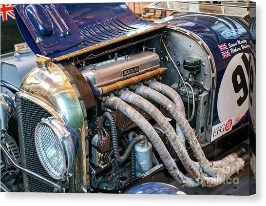 Brunch Canvas Print - 1926 Vintage Bentley 3l by Tim Gainey