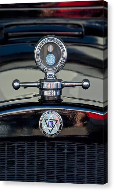 Collector Hood Ornaments Canvas Print - 1928 Dodge Brothers Hood Ornament by Jill Reger