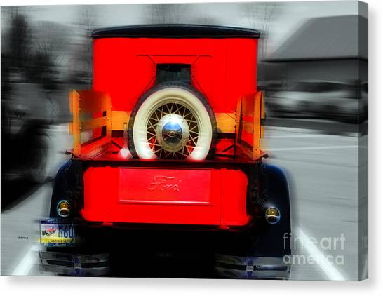 1928 Model A Ford  Canvas Print by Steven Digman