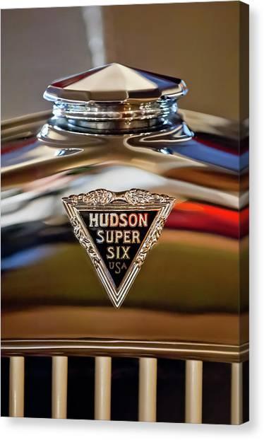 Collector Hood Ornaments Canvas Print - 1929 Hudson Cabriolet Hood Ornament by Jill Reger