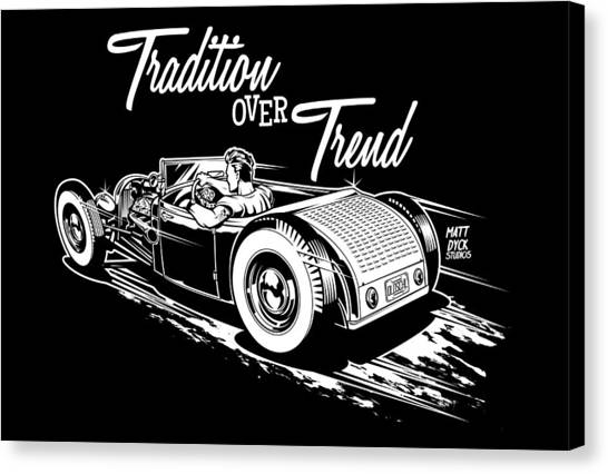 Canvas Print - 1929 Roadster Design by Matt Dyck