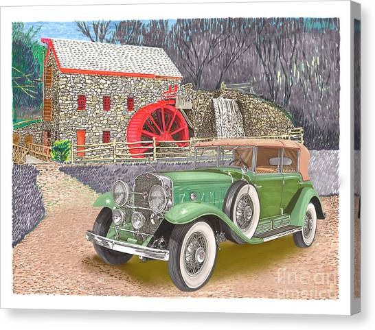 Canvas Print - 1930 Cadillac V-16 by Jack Pumphrey