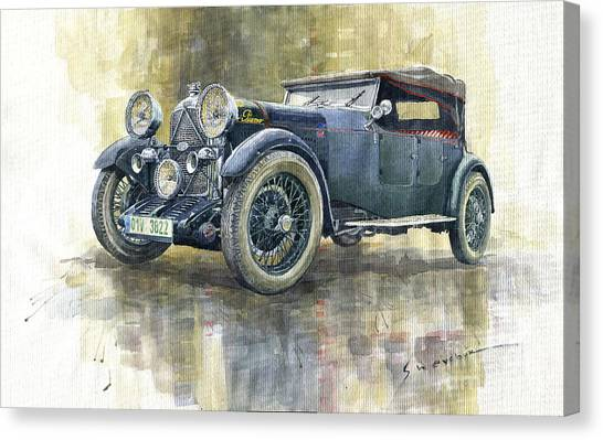 Automotive Art Canvas Print - 1932 Lagonda Low Chassis 2 Litre Supercharged Front by Yuriy Shevchuk