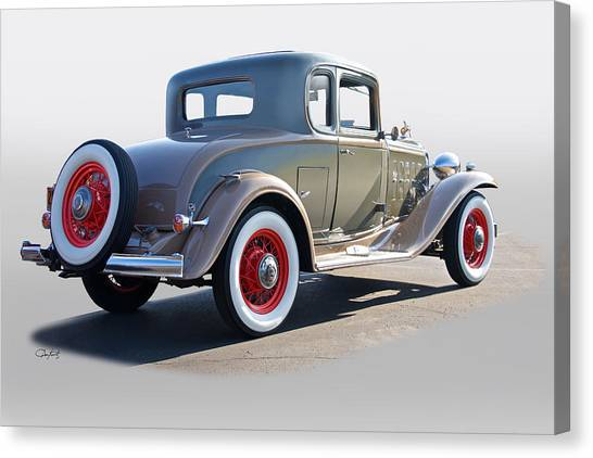 Automotive Art Series Canvas Print - 1932 Buick 96 S Coupe '3q Rear View' by Dave Koontz