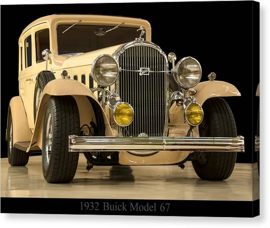 67 Canvas Print - 1932 Buick Model 67 by Chris Flees