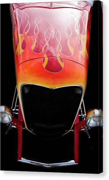 Cobra Canvas Print - 1932 Flamed Ford by Timothy Rohman