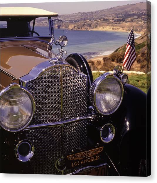 Canvas Print featuring the photograph 1932 Packard Phaeton by Samuel M Purvis III