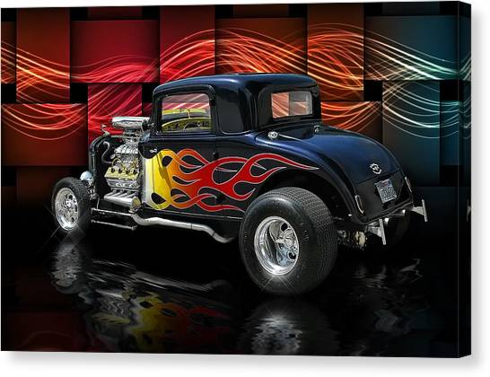 1932 Plymouth Coupe .... Canvas Print by Rat Rod Studios