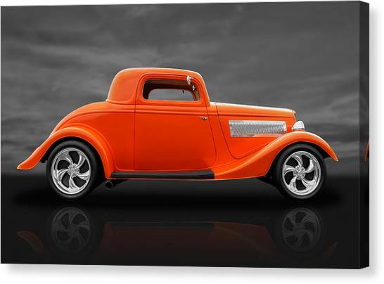 1933 Ford Three Window Coupe Canvas Print
