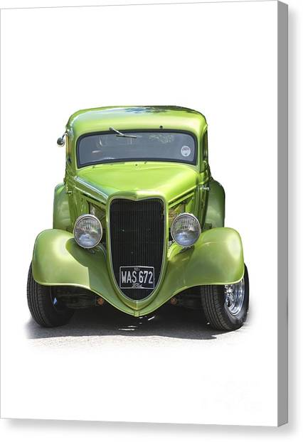 1934 Ford Street Hot Rod On A Transparent Background Canvas Print