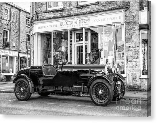 Motoring Canvas Print - 1934 Lagonda M45 In The Costwolds by Tim Gainey