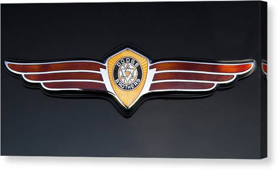 1937 Dodge Brothers Emblem Canvas Print