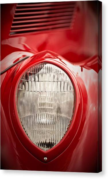 1937 Ford Headlight Detail Canvas Print