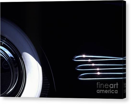1938 Cadillac Limo With Chrome Strips Canvas Print by Anna Lisa Yoder
