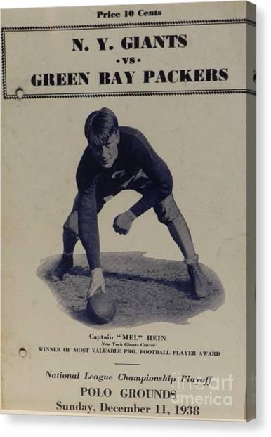 Reggie White Canvas Print - 1938 Giants Vs. Packers by Snapshot Studio