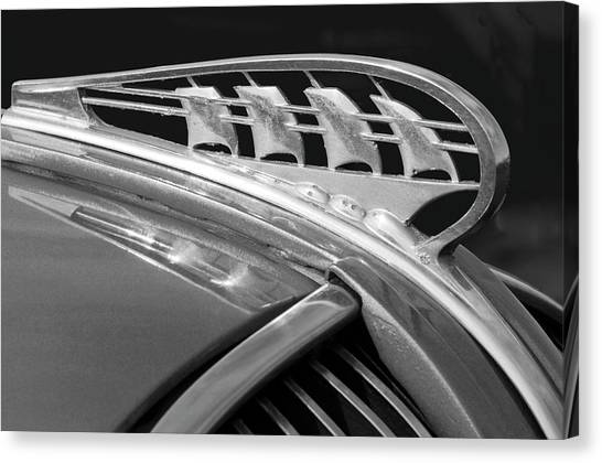 Collector Hood Ornaments Canvas Print - 1938 Plymouth Hood Ornament 2 by Jill Reger
