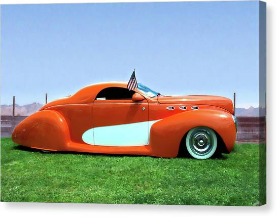 1939 Lincoln Zephyr Coupe Canvas Print