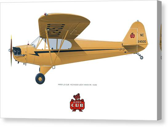 1939 Piper J3 Cub Canvas Print