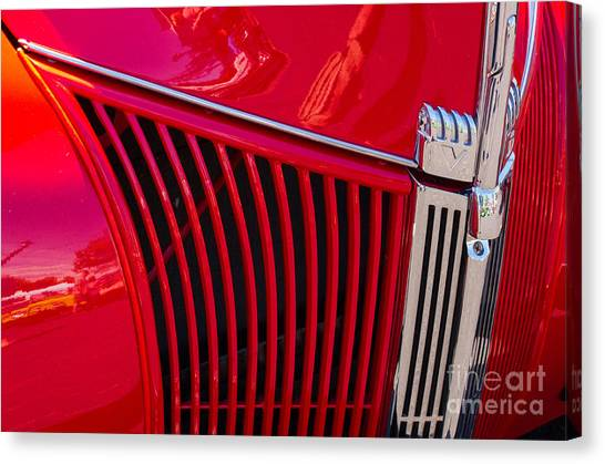1940 Ford Pickup Grill Canvas Print