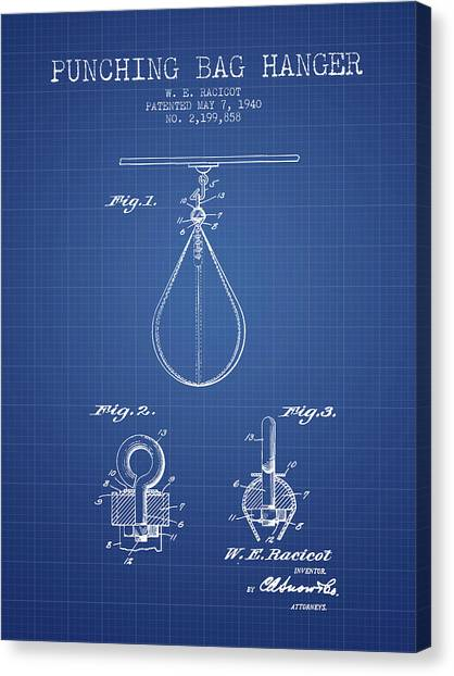 Ufc Canvas Print - 1940 Punching Bag Hanger Patent Spbx13_bp by Aged Pixel