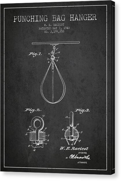 Ufc Canvas Print - 1940 Punching Bag Hanger Patent Spbx13_cg by Aged Pixel