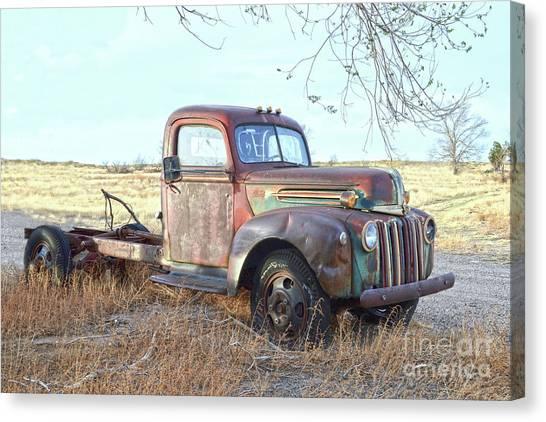 1940s Ford Farm Truck Canvas Print