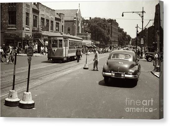 1940's Inwood Trolley Canvas Print