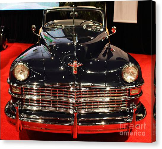 1941 Cadillac Series 62 Convertible Coupe . Front View Canvas Print by Wingsdomain Art and Photography